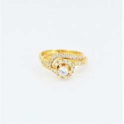 22ct Bridal Ring Set - DMS-R58 - 1