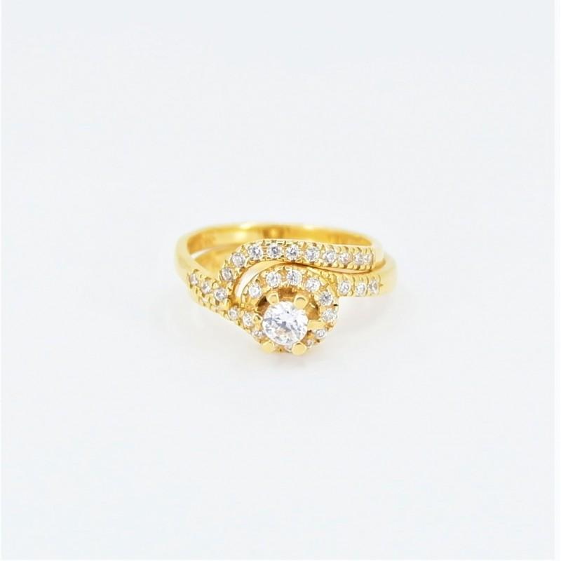 22ct Bridal Ring Set - DMS-R58 - 1