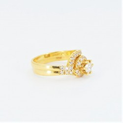 22ct Bridal Ring Set - DMS-R58 - 2