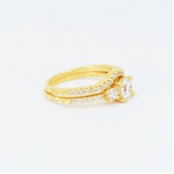 22ct Bridal Ring Set - DMS-R59 - 1