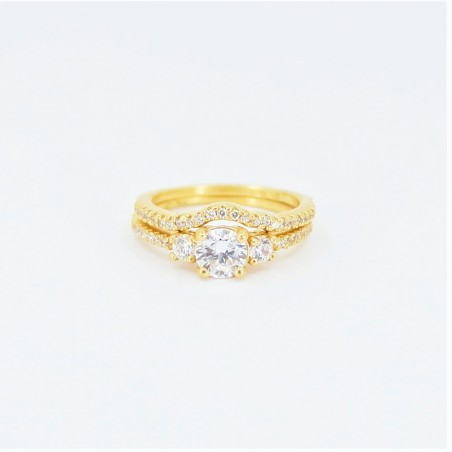 22ct Bridal Ring Set - DMS-R59 - 2