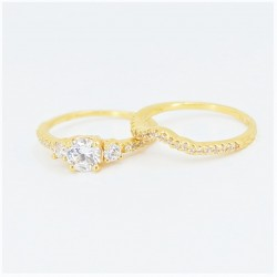 22ct Bridal Ring Set - DMS-R59 - 3