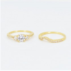 22ct Bridal Ring Set - DMS-R59 - 4