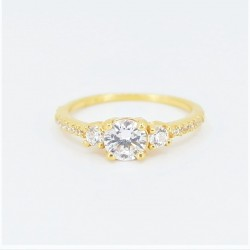 22ct Bridal Ring Set - DMS-R59 - 5