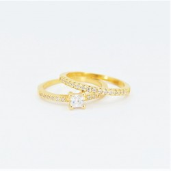 22ct Bridal Ring Set - DMS-R50