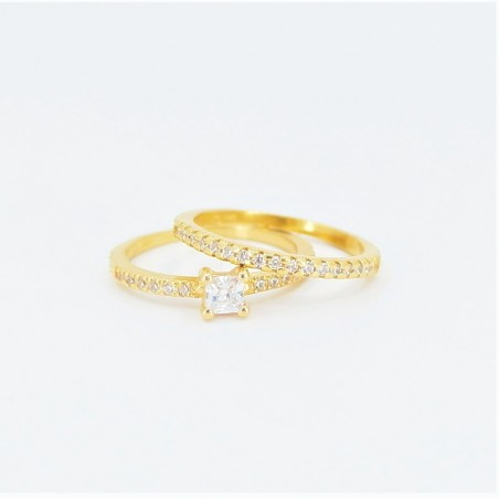 22ct Bridal Ring Set - DMS-R50 - 1