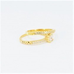 22ct Bridal Ring Set - DMS-R50 - 3
