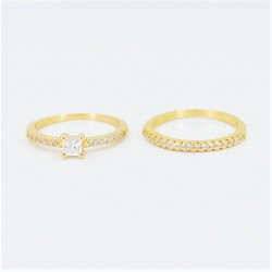 22ct Bridal Ring Set - DMS-R50 - 4