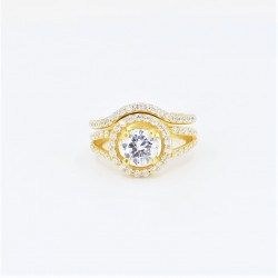 22ct Bridal Ring Set - DMS-R109 - 1