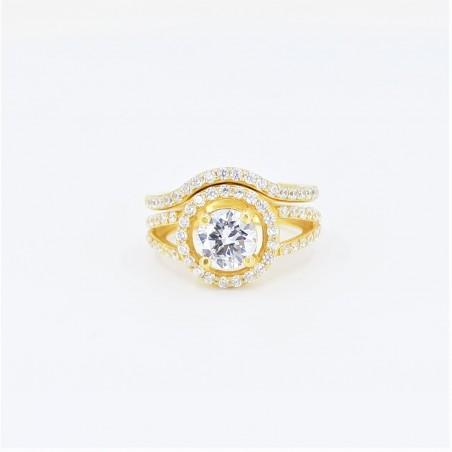 22ct Bridal Ring Set - DMS-R109 - 1