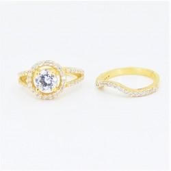 22ct Bridal Ring Set - DMS-R109 - 3