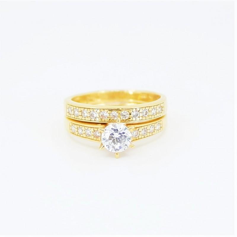22ct Bridal Ring Set - DMS-R86 - 1