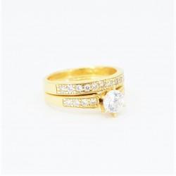 22ct Bridal Ring Set - DMS-R86 - 2
