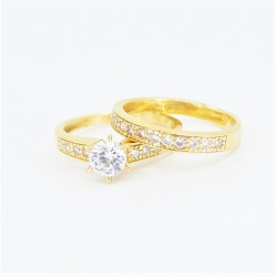 22ct Bridal Ring Set - DMS-R86 - 3