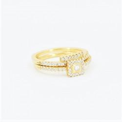 22ct Bridal Ring Set - DMS-R59 - 1