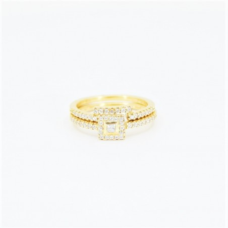 22ct Bridal Ring Set - DMS-R59 - 2