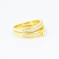 22ct Bridal Ring Set - DMS-R73 - 1