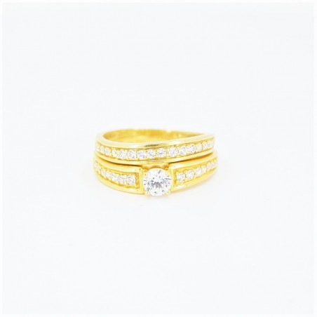 22ct Bridal Ring Set - DMS-R73 - 2