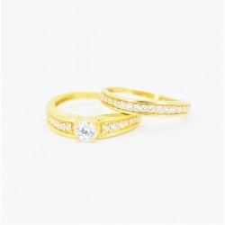 22ct Bridal Ring Set - DMS-R73 - 3