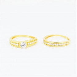 22ct Bridal Ring Set - DMS-R73 - 4