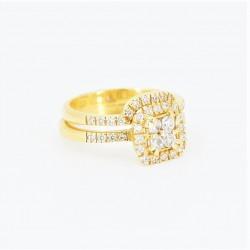22ct Bridal Ring Set - DMS-R69 - 1
