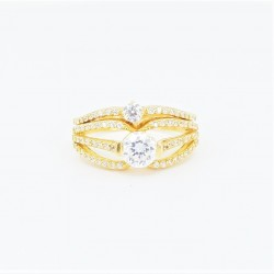 22ct Bridal Ring Set - DMS-R55