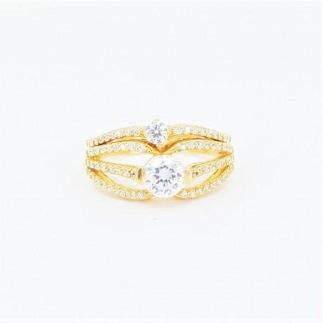 22ct Bridal Ring Set - DMS-R55 - 1