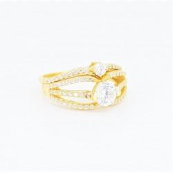 22ct Bridal Ring Set - DMS-R55 - 2