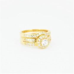 22ct Bridal Ring Set - DMS-R84 - 1