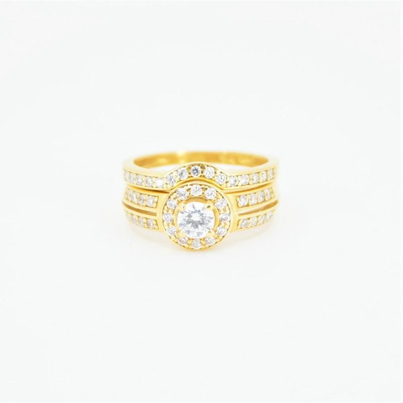 22ct Bridal Ring Set - DMS-R84 - 2