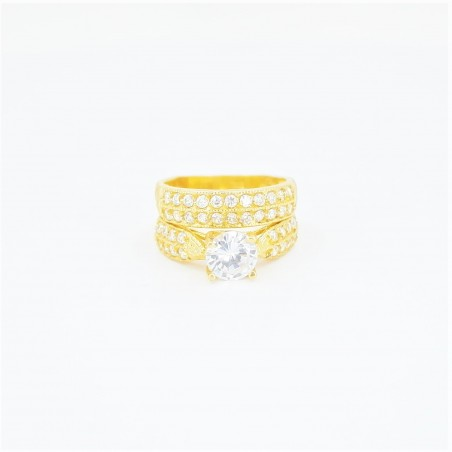 22ct Bridal Ring Set - DMS-R73 - 1