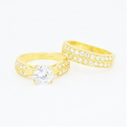 22ct Bridal Ring Set - DMS-R73 - 3