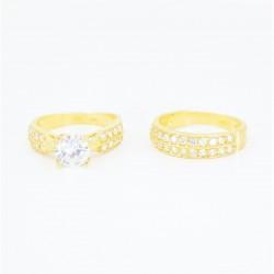 22ct Bridal Ring Set - DMS-R73 - 4
