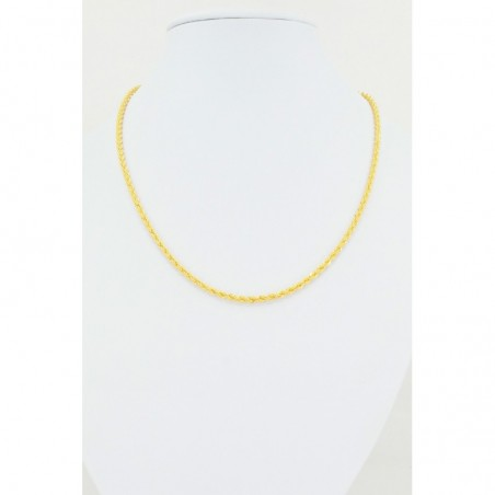 Diamond Cut Hollow Rope Chain - DMS-4-C45 - 1
