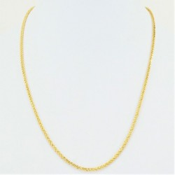 Hollow Square Diamond Cut Spiga Chain - DMS-5-C50 - 2