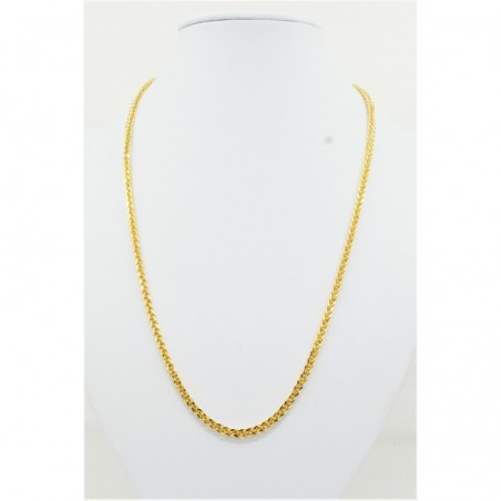 Hollow Thick Diamond Cut Square Spiga Chain - DMS-10-C93 - 1