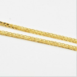 Hollow Thick Diamond Cut Square Spiga Chain - DMS-10-C93 - 4