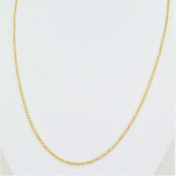 Two-Tone Solid Rope Chain - DMS-13-C100 - 2