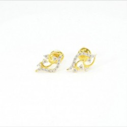 Fancy C/Z Stud Earrings - DMS-4-E28 - 1