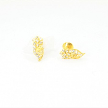 Butterfly wings C/Z Stud Earrings - DMS-9-E26 - 1
