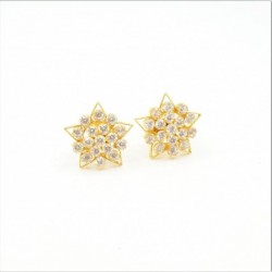 7 pointed Star C/Z Cluster Stud Earrings - DMS-10-E29 - 1