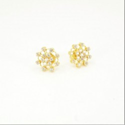 C/Z Cluster Stud Earrings - DMS-11-E28 - 1