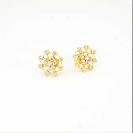 C/Z Cluster Stud Earrings - DMS-11-E28 - 1