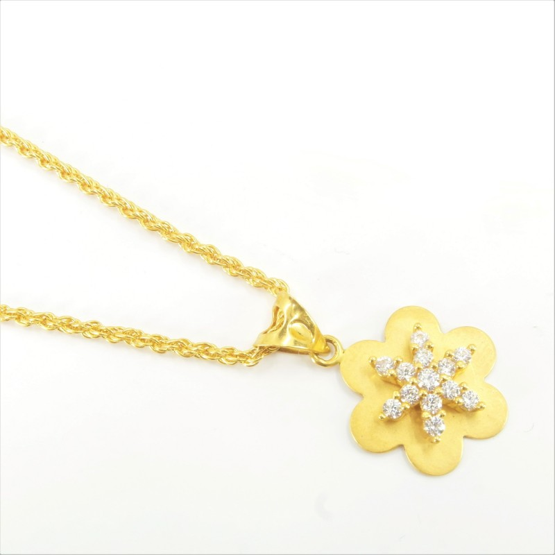 Soft Star Pendant on a Rope Chain - DMS-16-CP48 - 1