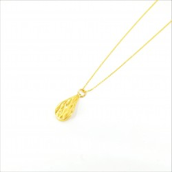 Laser etched Drop Pendant with a Fine Bead Chain - DMS-2-CP31 - 1