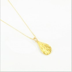 Laser etched Drop Pendant with a Fine Bead Chain - DMS-3-CP31 - 1