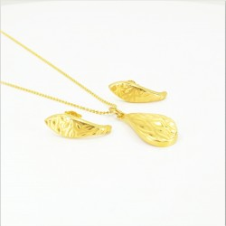 Laser etched Design Pendant Set - 2