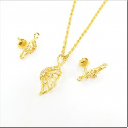 Fancy Twist C/Z  Pendant Set - 1