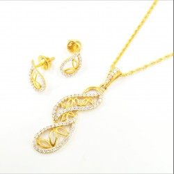 Long Fancy C/Z Pendant Set - 1
