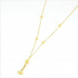 Frosted Gold Bead Necklet Set - 3